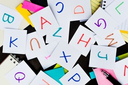; Learning Language with Handwritten Alphabet Character Cards