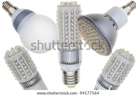 LED light bulb isolated of white