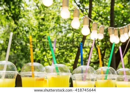 lemonade in plastic cup lemonade plastic cup garland bulbs fair
