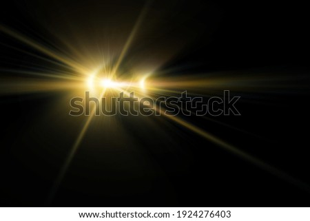lens flares for photography and anamorphic lens flare, digital yellow lens flare