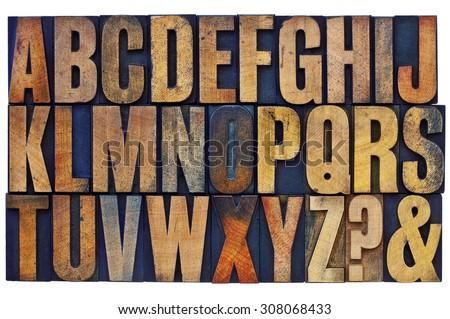 26 letters of english alphabet  ...