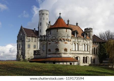 """""""Lichtenstein"""" Castle in autumn, Germany"""