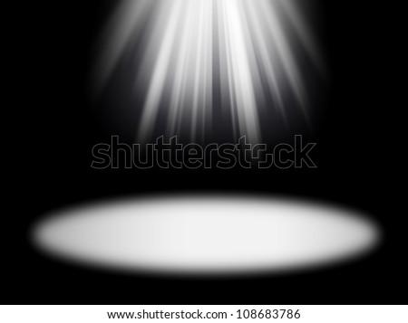 light rays on the black background