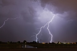 Lightning strikes in the Netherlands
