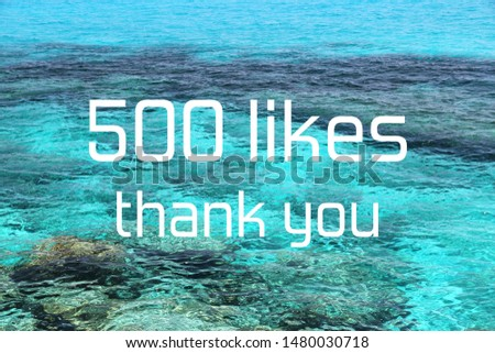 500 likes. Social media achievement. Thank you banner. #1480030718