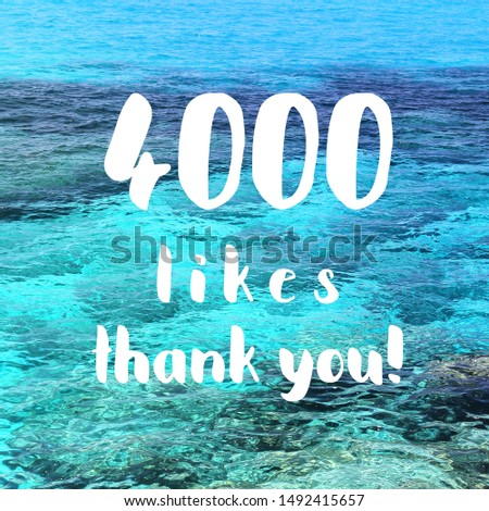 4000 likes. Thank you banner. Social media milestone. #1492415657