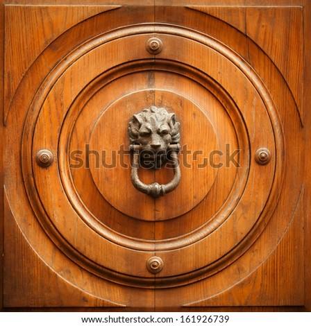 lion-shaped door knocker  Stock photo ©