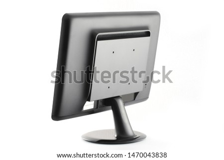 liquid crystal monitor for computer on white background #1470043838