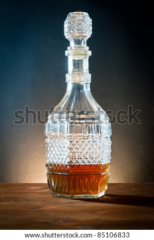 ,liquor in bottle of glass antique,