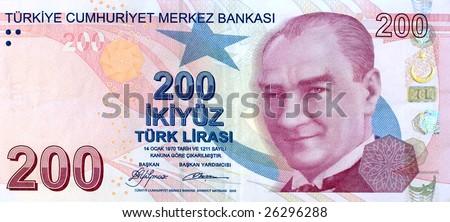 200 Lira banknote front