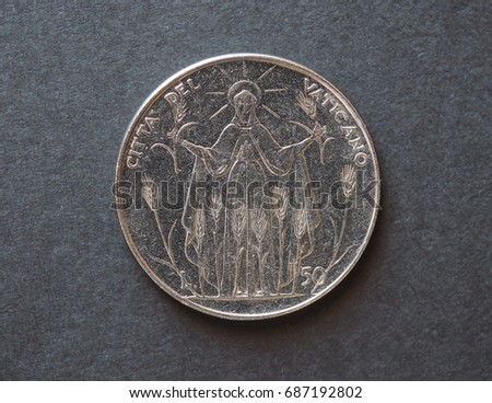 50 liras coin from Vatican released in 1968 #687192802