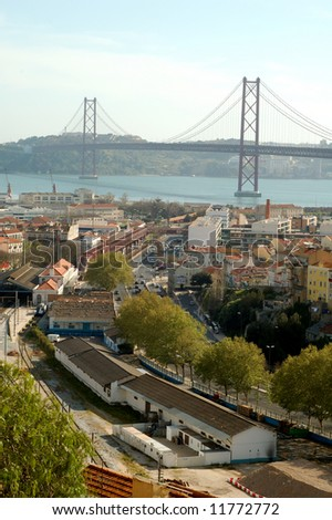 Lisbon, bridge 25 of Abril