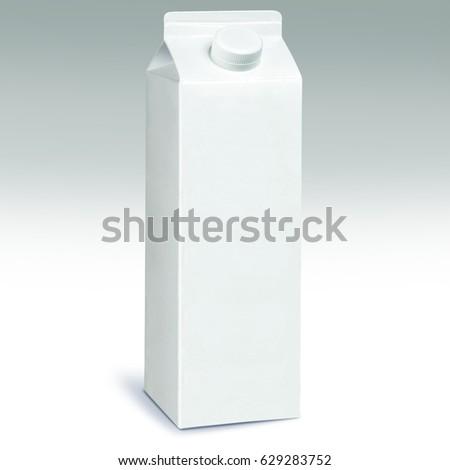 1 Liter Milk Carton Pack Template Mockup 629283752