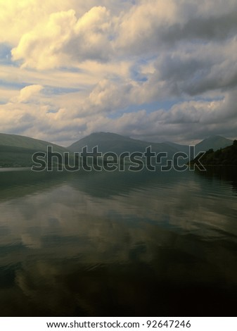 loch fyne, inverary, argyll, stratchclyde region, scotland, uk, gb - stock photo