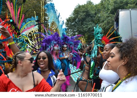 """London, England / UK - August 27th 2018: Notting Hill Carnival 2018 parade"" #1165970011"