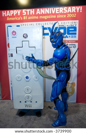 6-30-07 Long Beach Anime Expo.  Cosplayer portraying the Nintendo Wii Wiimote control and The Guyver