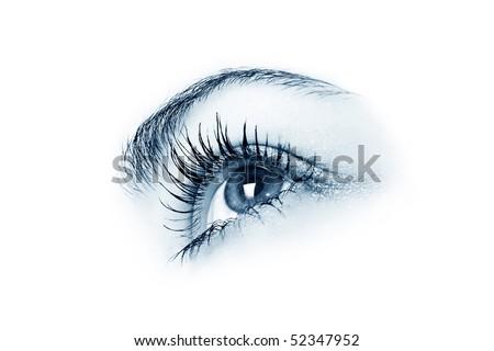 lose-up of eye