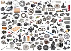 lot of new auto spare parts. car shop