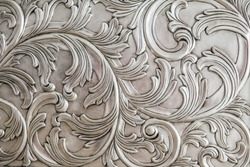 Luxurious classic handmade furniture, carved elements. Barocco, rococo, vintage style.