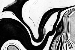 Luxury black&white ART in Eastern style. Natural Pattern. The ancient art of Japanese marbling. Gouache painting- can be used as a trendy background.