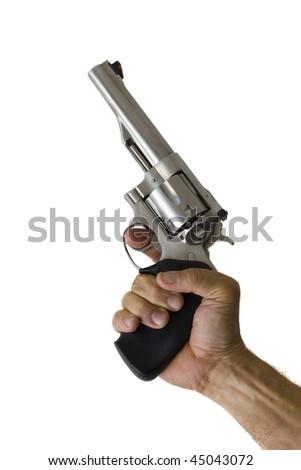 44 Magnum Handgun isolated