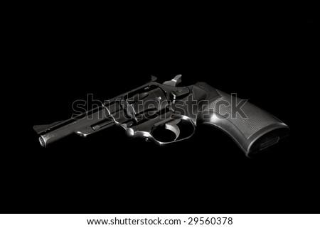 .357 Magnum  revolver against a black background