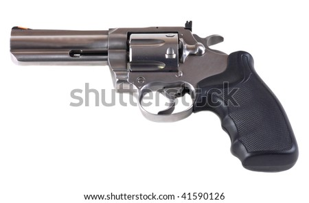 357 magnum revolver isolated on white