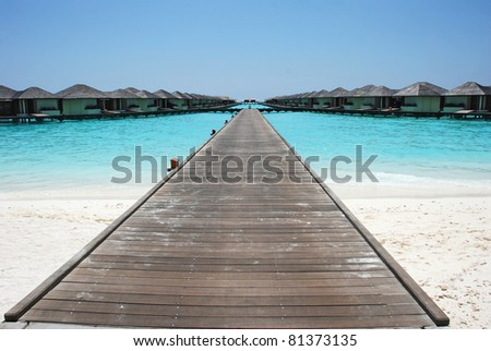 maldives islands, wooden pier