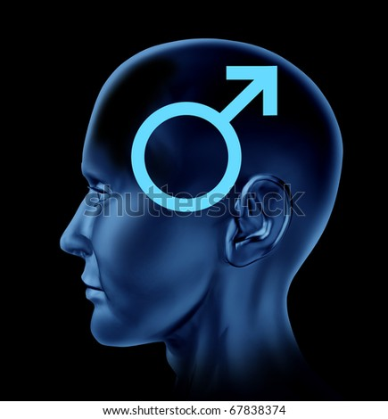 male man symbol Brain head mind idea intelligence