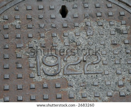 1922 man-hole cover