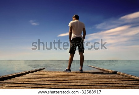 man on a wharf