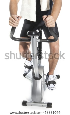 man who pedal stationary bikes