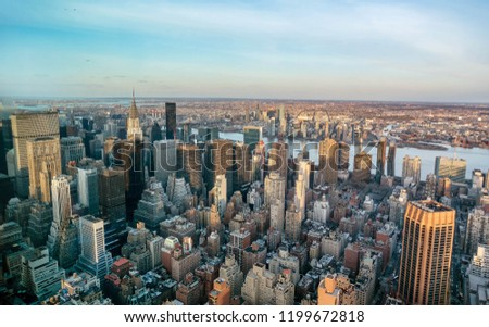Manhattan skyline from above, New York City #1199672818