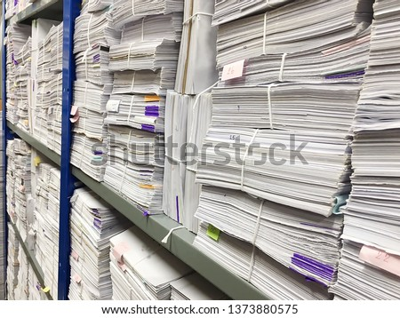 Many documents Is stored in the room
