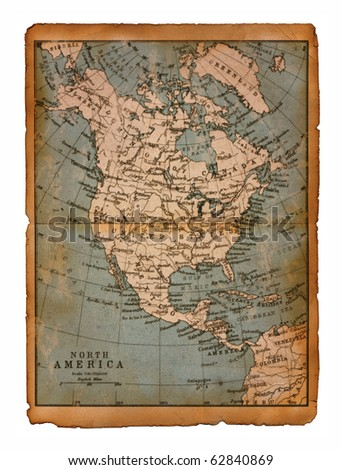 39 Map of North America edit in a travel guide of 1888
