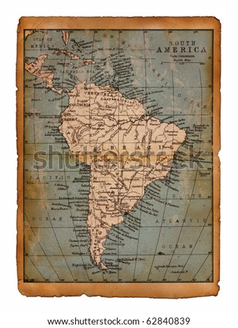 38 Map of South America edit in a travel guide of 1888