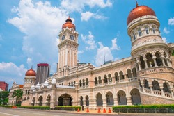 2019, March 3rd, Malaysia, Kuala Lumpur - View of the Cityscape and Dataran Merdeka the historical place in the city.