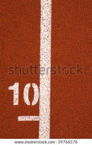 10 mark on running track