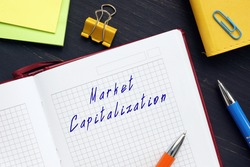 Market Capitalization phrase on the sheet.