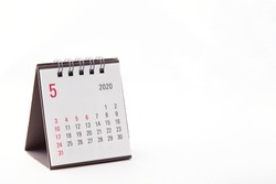 2020 May calendar on white background