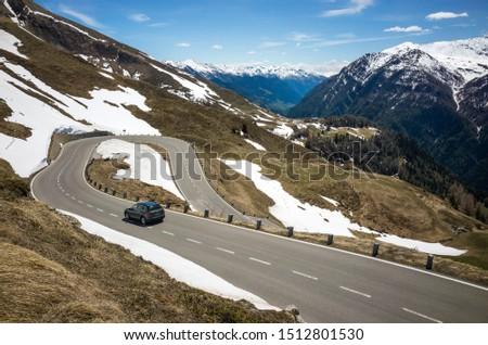 24 MAY 2019, Grossglockner Hohalpenstrasse, Austria. Panoramic w #1512801530