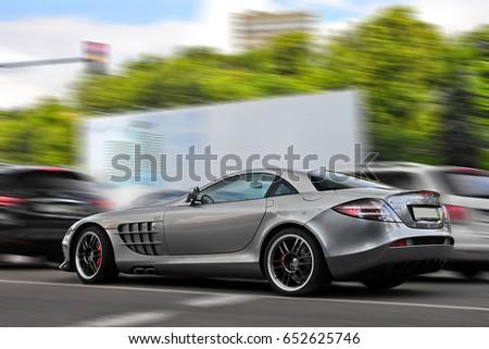 3 May 2017, Kiev - Ukraine. Editorial photo. Mercedes-Benz SLR McLaren 722 Edition. Editorial photo.