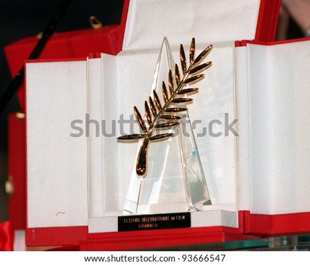 18MAY97:  PALME D'OR AWARD at the 1997 Cannes Film Festival.