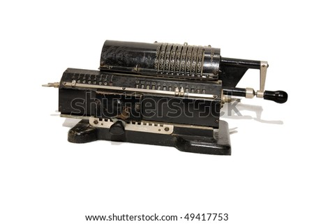 mechanical calculator that could add and subtract #49417753