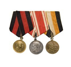 3 medals of Czarist Russian Empire military award