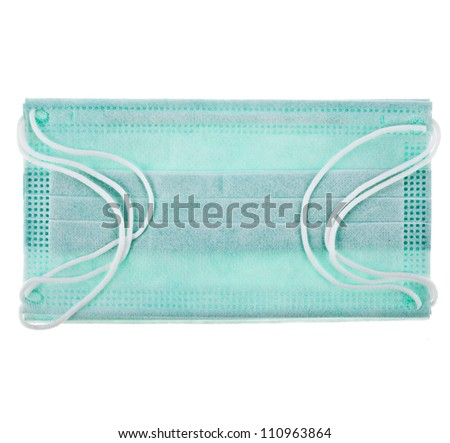 Medical  protective shielding bandage on white background