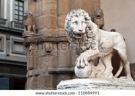 """""""Medici lion"""" by Vacca (1598)"""
