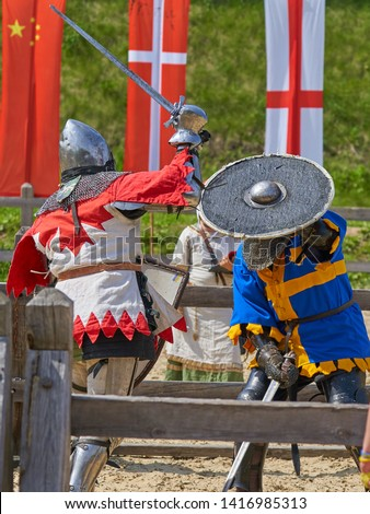 Medieval tournament knights fights recon                         #1416985313