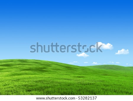 25 megapixel nature collection - Green meadow template