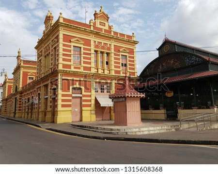 Mercado Adolpho Lisboa Manaus, built 1880-1883. Amazon, Brazil  Foto stock ©